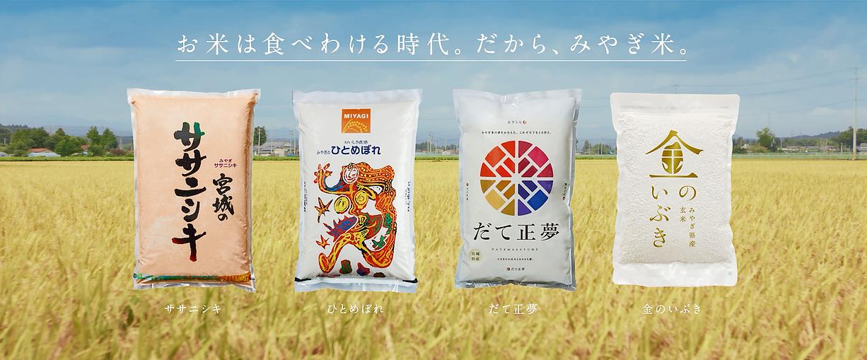 お米は食べ分ける時代。だからみやぎ米。