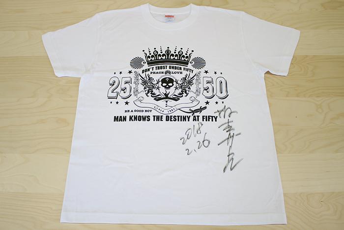 坂本サトルサイン入りオリジナルTシャツ