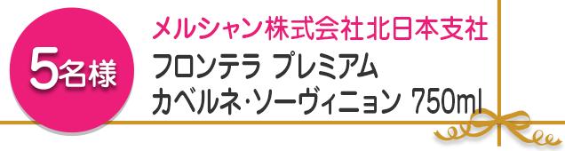 【5名様】フロンテラ プレミアム カベルネ·ソーヴィニョン 750ml
