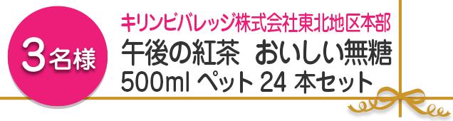 【1名様】午後の紅茶 おいしい無糖 500mlペット24本セット