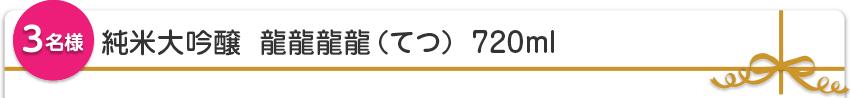 【3名様】純米大吟醸 龍龍龍龍(てつ)