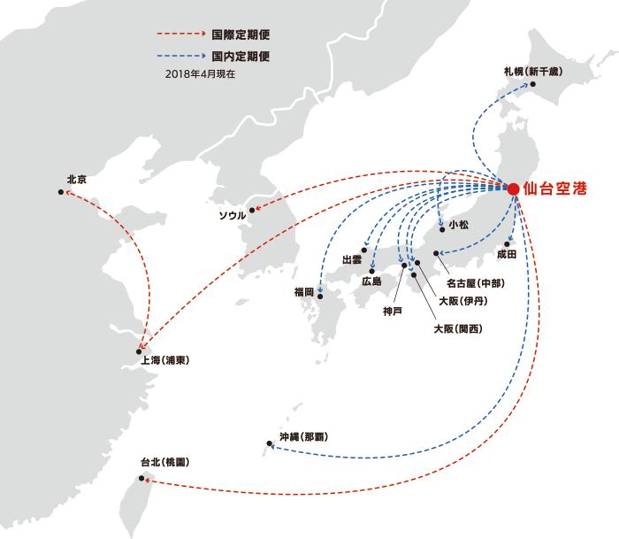 航空路線図