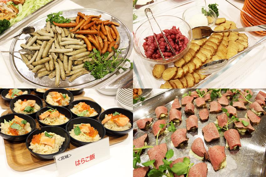 提供された地元料理の数々
