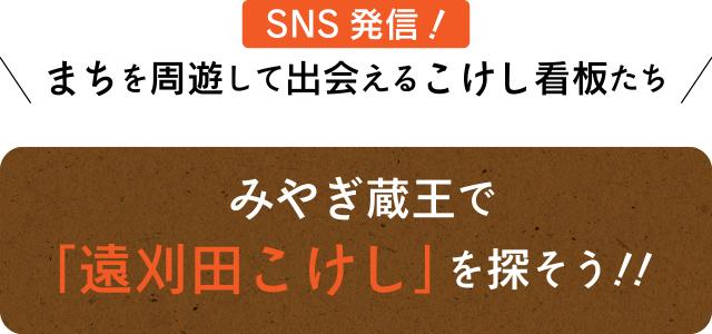 SNS発信!まちを周遊して出会えるこけし看板たち みやぎ蔵王で「遠刈田こけし」を探そう!!