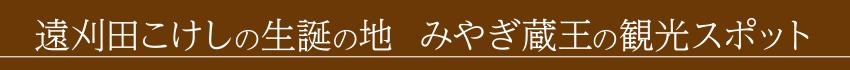 遠刈田こけしの生誕の地  みやぎ蔵王の観光スポット