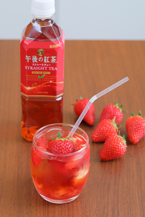 イチゴの甘味と紅茶の旨味がマッチ!果肉をたっぷり使った「ストロベリーティー」