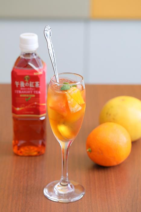 さわやかな柑橘系の香りとほどよい甘さのシトラスティー