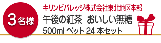 【3名様】キリンビバレッジ株式会社東北地区本部 午後の紅茶 おいしい無糖 500mlペット24本セット