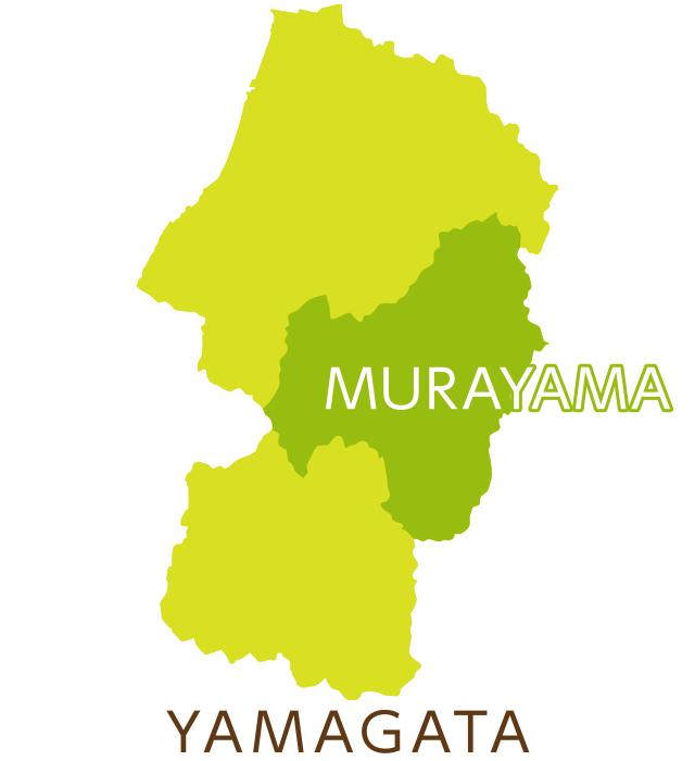 山形県庄内地方地図