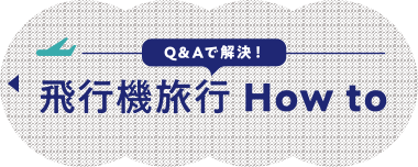 Q&Aで解決!飛行機旅行 How to