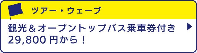 [ツアー・ウェーブ]観光&オープントップバス乗車券付き29,800円から!