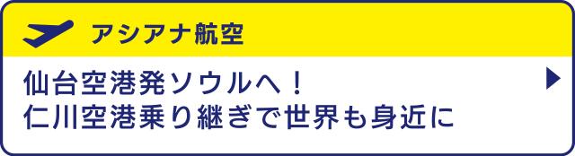 [アシアナ航空]仙台空港発ソウルへ!仁川空港乗り継ぎで世界も身近に