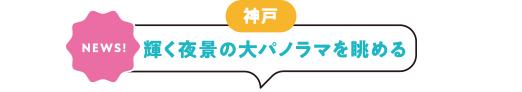 [神戸][NEWS!]輝く夜景の大パノラマを眺める