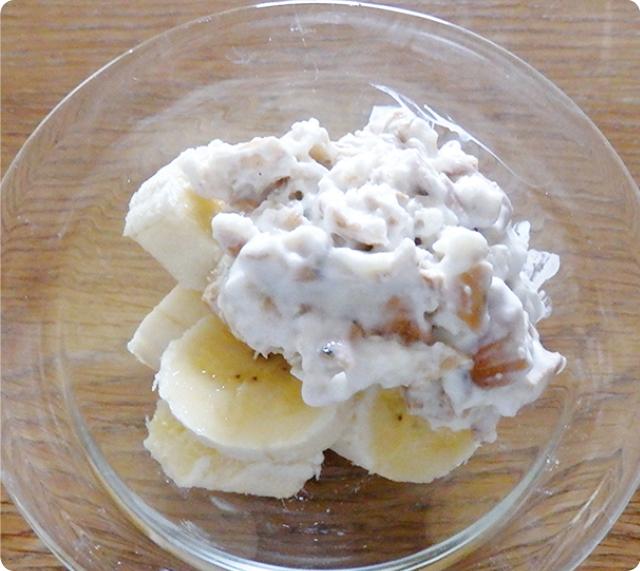 乾パンバナナヨーグルト