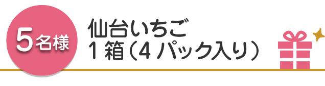 【5名様】仙台いちご1箱(4パック入り)