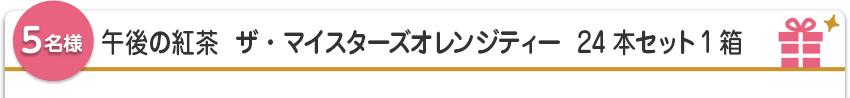 【5名様】午後の紅茶  ザ・マイスターズオレンジティー  24本セット1箱