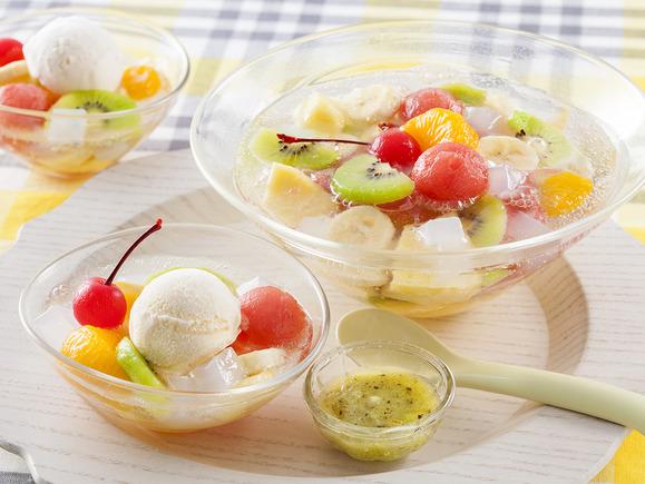 キリンレモンでつくるフルーツクリームソーダ
