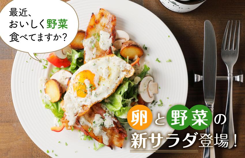 最近、野菜食べてますか?卵と野菜の新サラダ登場!