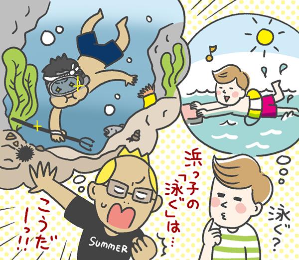 浜っ子の「泳ぐ」は…こうだー!!